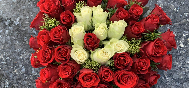 foto met hart van rozen